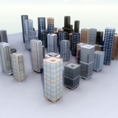 lwo multi tall building skyscrapers