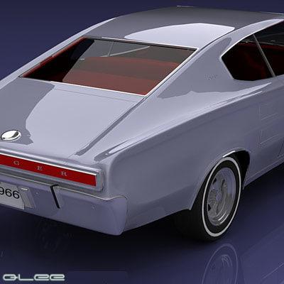 dodge charger 1966 3d model