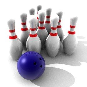 obj bowling scene kit