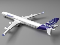 3d model airbus a380 house colors