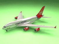 3d airbus a380 virgin airlines