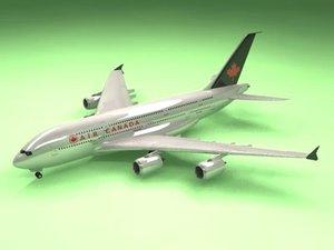 airbus a380 air canada c4d