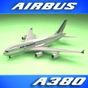 3d airbus a380 air france