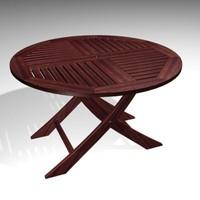 3d garden table model
