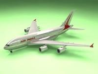 3d airbus a380 air india