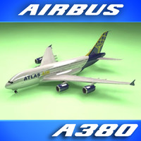 3d airbus a380 atlas air
