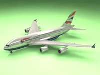 3d model airbus a380 british airways