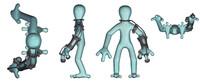 humanoid 3d obj