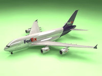 airbus a380 cargo airliner 3d max