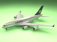 3ds airbus a380 lufthansa airliner