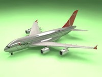 3d airbus a380 northwest airliner model