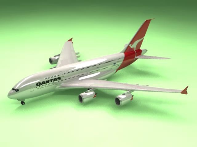 max airbus a380 qantas airliner