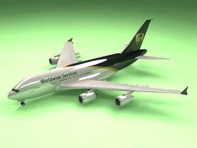 airbus a380 ups airliner 3d model