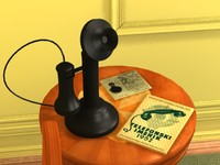 3ds antique telephone