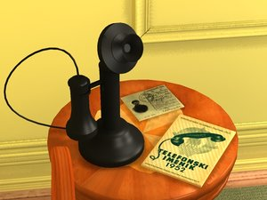 3ds antique telephone