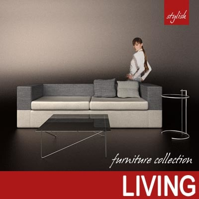 furniture modern architecture table 3ds