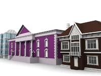 3d 3 buildings
