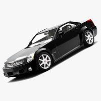 3d model of cadillac xlr hardtop 2006