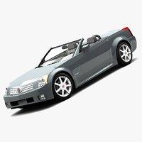 cadillac xlr roadster 2006 3d max