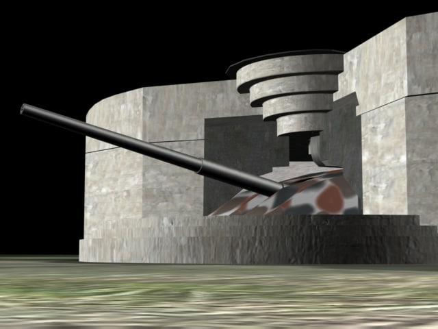 ww2 bunker german cannon max