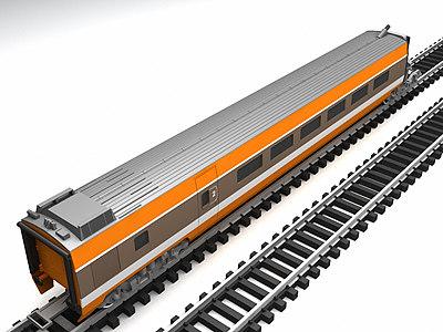 tgv high-speed train cars 3d model