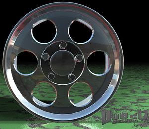 center line wheel champ 3d model