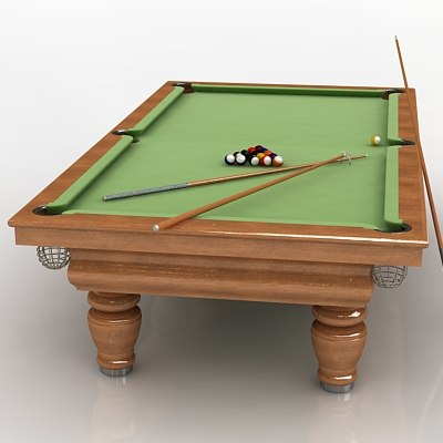 3dsmax pool table pooltable