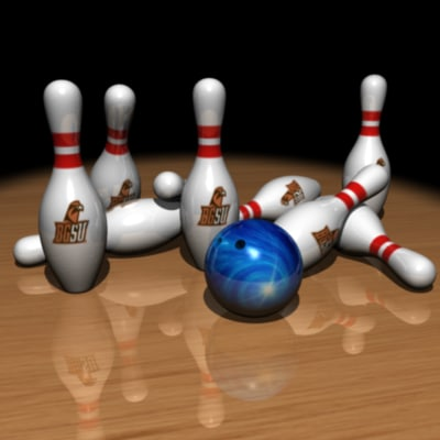 bowling kit ball pin 3d model