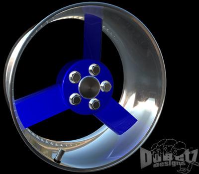 3d model wheel cutter center