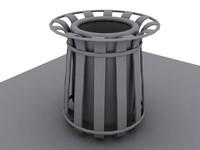 trash trashcans 3d model