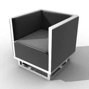 obj chair designed verner