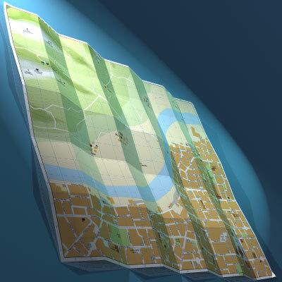 3d paper city model