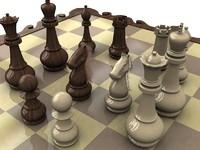 3ds max chess set