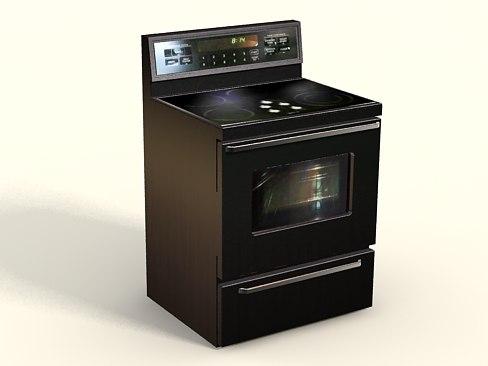 3d kitchen stove