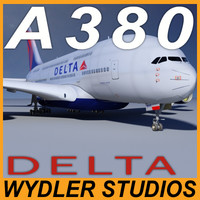 airbus a380 delta connection 3d model