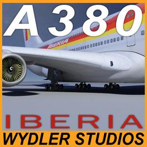 a380 iberia 3d model