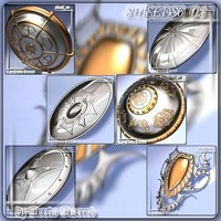 3ds max 6 shields 01