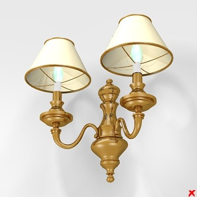 wall lamp 3d 3ds