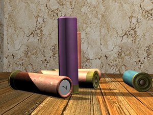 old shotgun shells 3d model