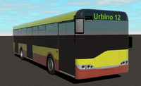 city bus solaris urbino 3dm