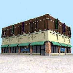 3d building storefront