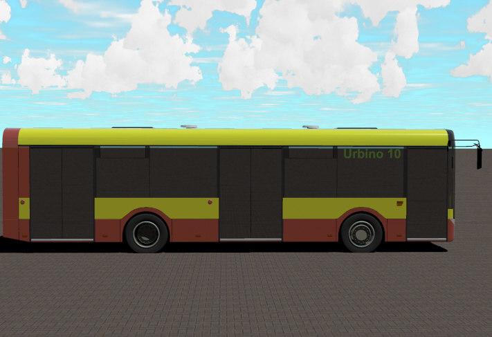3d city bus solaris urbino model