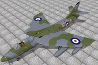 hawker hunter jet fighters c4d