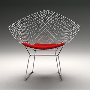 bertoia diamond chair 3d model