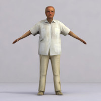 3d model axyz rigged characters