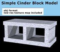 3d cinder block cinderblock