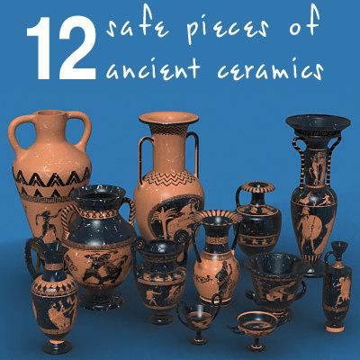 ancient ceramics 3d model