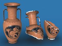 3ds max ancient amphora