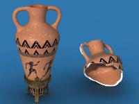 3d model ancient amphora