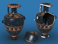 antique ceramics hydria 3d max